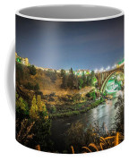The Monroe Street Dam And Bridge At Night, In Spokane, Washingto Coffee Mug