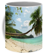 Tropical Beach At Mahe Island Seychelles Coffee Mug