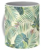 Tropical Leaves Pattern Coffee Mug