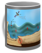 Tsunami Warning Diagram Coffee Mug