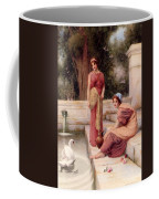 Two Classical Maidens And A Swan Henry Ryland Coffee Mug