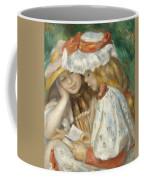 Two Girls Reading Coffee Mug