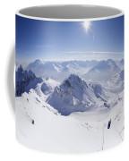 View From Summit Of Valluga, St Saint Anton Am Arlberg Austria Coffee Mug