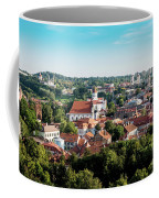 view of downtown in Vilnius city, Lithuanian Coffee Mug