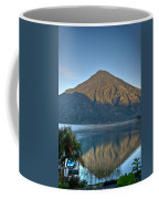Volcano And Reflection Lake Atitlan Guatemala Coffee Mug