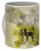 Watercolor Painting Of Beauitful Landscape Image Of Newborn Spri Coffee Mug