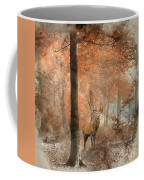 Watercolour Painting Of Beautiful Image Of Red Deer Stag In Fogg Coffee Mug