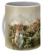 Watercolour Painting Of Beauttiful Close Up Of New Forest Pony H Coffee Mug