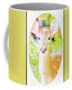 White-tailed Virginia Deer Fawn Coffee Mug