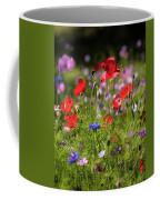 Wild Flowers And Red Poppies Coffee Mug