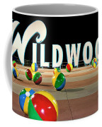 Wildwood's Sign At Night On The Boardwalk  Coffee Mug