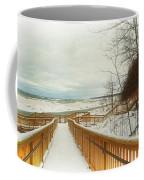 Winter Ice On Lake Michigan Coffee Mug