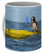 Woman Kayaking Coffee Mug