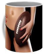 Woman With A Football Coffee Mug