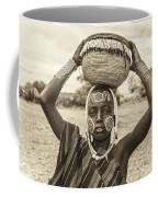 Young Boy From The African Tribe Mursi, Ethiopia Coffee Mug