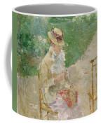 Young Woman Knitting Coffee Mug