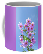 Fully Bloomed Pink Dahlia Imperialis At Garden In November Coffee Mug