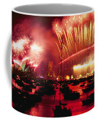 20 Tons Of Fireworks Explode Coffee Mug by Annie Griffiths