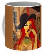 200 - Woman With Black Hat .... Coffee Mug