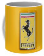 2012 Ferrari Hood Emblem Coffee Mug