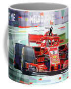 2018 Australian Gp Ferrari Sf71h Vettel Winner  Coffee Mug