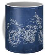 2018 Yamaha Mt07,blueprint,blue Background,fathers Day Gift Coffee Mug