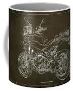 2018 Yamaha Tracer 900gt Blueprint Brown Background Two Wheels Move The Soul Coffee Mug