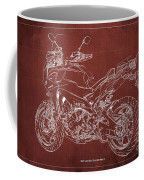 2018 Yamaha Tracer 900gt Blueprint Red Background Gift For Dad Coffee Mug