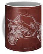 2018 Yamaha Wolverine X4 Blueprint Red Background Gift For Him Coffee Mug