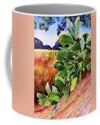 #203 Blue Oak Leaves 2 Coffee Mug