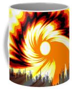 205 - Poster Climate Change  2 ... Burning Summer  Sun  Coffee Mug