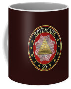 20th Degree - Master Of The Symbolic Lodge Jewel On Black Leather Coffee Mug