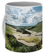 Beautiful Vibrant Landscape Image Of Burbage Edge And Rocks In S Coffee Mug