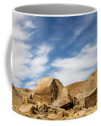 Rocks, Mountains And Sky At Alabama Hills, The Mobius Arch Loop  Coffee Mug