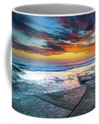 Sunrise Seascape And Rock Platform Coffee Mug