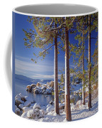 211257 Snow On Tree Sides Lake Tahoe Coffee Mug