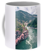 Kootenai River Water Falls In Montana Mountains Coffee Mug