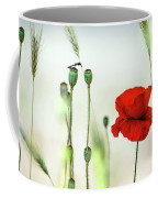 Summer Poppy Meadow Coffee Mug