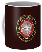 22nd Degree - Knight Of The Royal Axe Jewel On Black Leather Coffee Mug