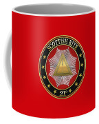 22nd Degree - Knight Of The Royal Axe Jewel On Red Leather Coffee Mug