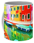 Burano Anisland Of Multi Colored Homes On Canals North Of Venice Italy Coffee Mug