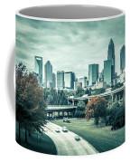 Charlotte North Carolina Cityscape During Autumn Season Coffee Mug