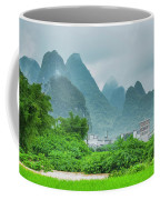 Karst Mountains Rural Scenery Coffee Mug