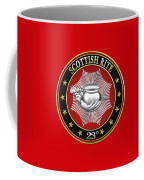 23rd Degree - Chief Of The Tabernacle Jewel On Red Leather Coffee Mug