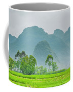 The Beautiful Karst Rural Scenery Coffee Mug
