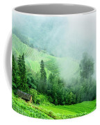Mountain Scenery In The Mist Coffee Mug