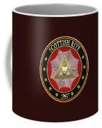 26th Degree - Prince Of Mercy Or Scottish Trinitarian Jewel On Black Leather Coffee Mug