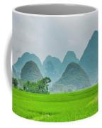 The Beautiful Karst Rural Scenery Coffee Mug
