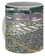 Bonnaroo Music Festival Aerial Photography Coffee Mug