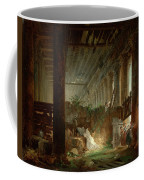 A Hermit Praying In The Ruins Of A Roman Temple Coffee Mug